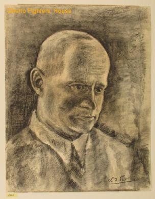 Portret Icchaka Kacenelsona. Autor: Michael Feigis.