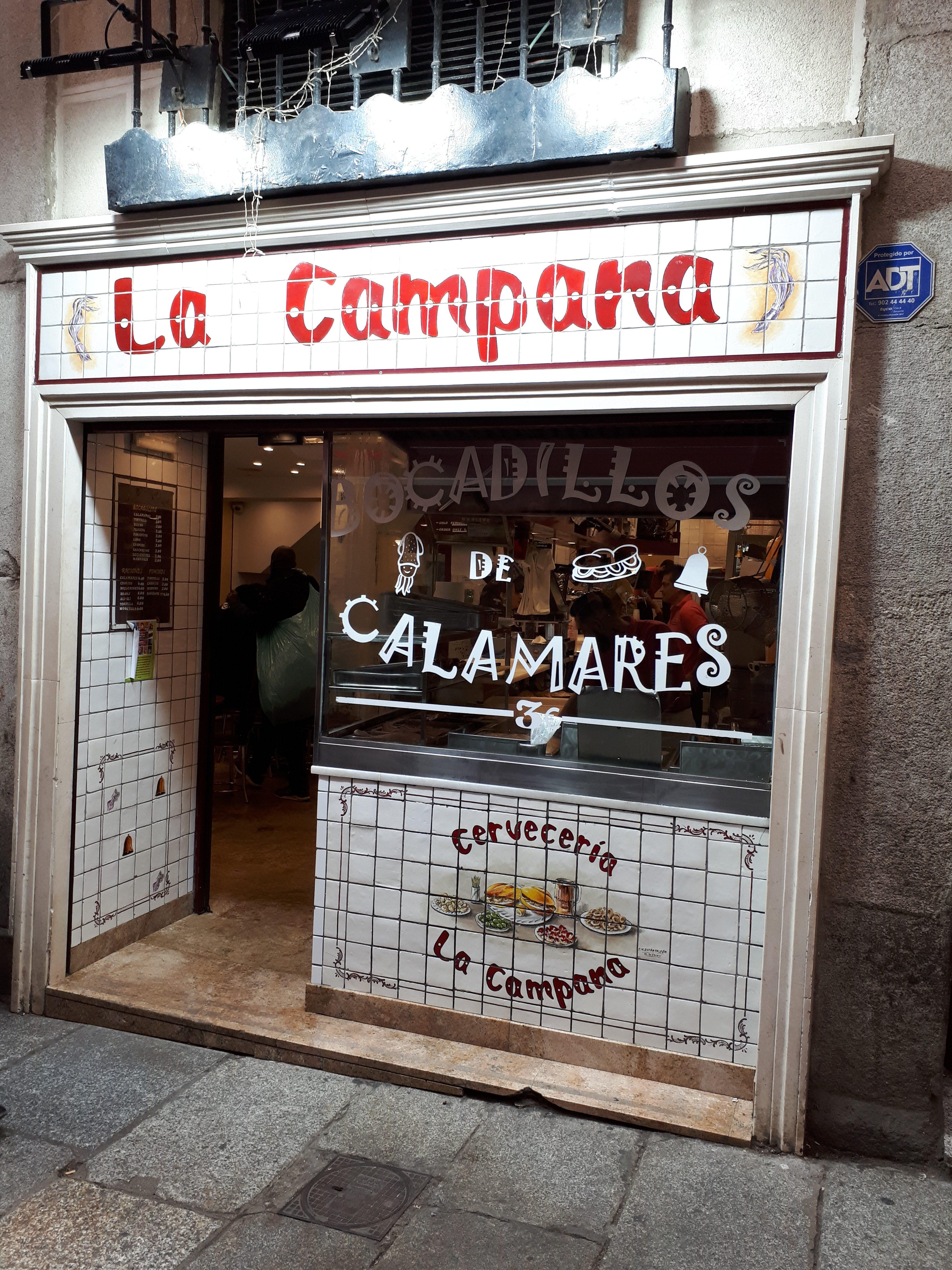 La Campana. Najlepsza kanapka z kalmarami w Madrycie. Za 3 EURO! Fot. Kamila Łapicka