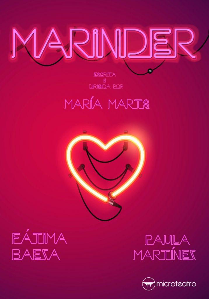 """""""Marinder"""" (reż. María Marts). Plakat ze strony Microteatr.es"""