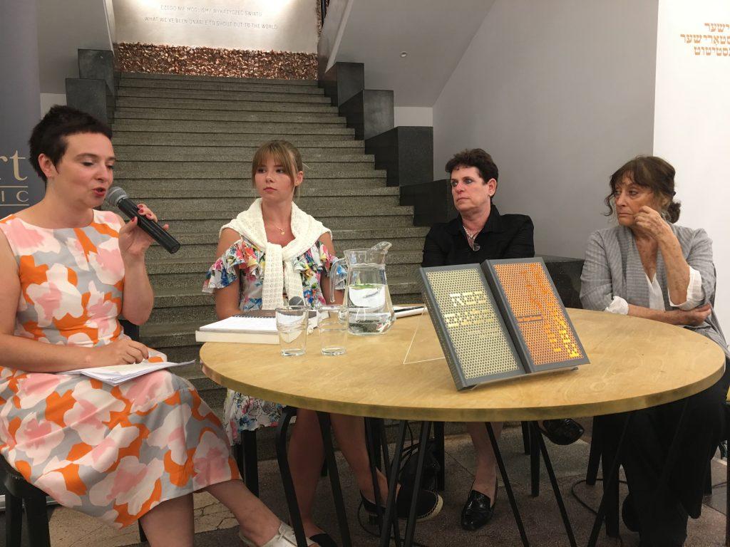 Spotkanie promocyjne w ŻIH. Od lewej: Patrycja Dołowy, Natalia Moskal, Meirav Hen, Hazel Karr. Fot. Tomasz Ochota